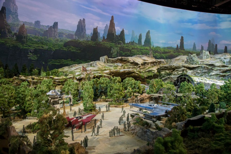 "STAR WARS-THEMED LAND MODEL AT D23 EXPOÊ-ÊThe epic, fully detailed model of theÊStar Wars-themed lands under development at Disneyland park in Anaheim, California and DisneyÕs Hollywood Studios in Orlando, Florida remains on display in Walt Disney Parks and ResortsÕ ""A Galaxy of Stories"" pavilion throughout D23 Expo at the AnaheimÊConvention Center.ÊThe stunning exhibition gives D23 Expo guestsÊan up-close look at whatÕs to come on this never-before seen planet.Ê(Disney Parks/Joshua Sudock)"